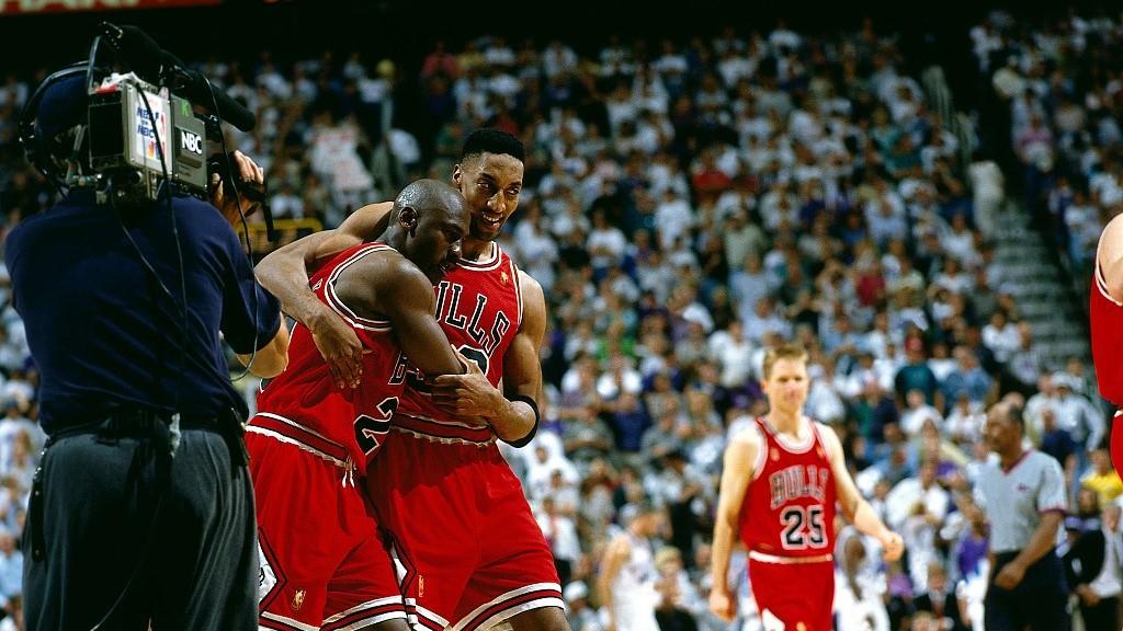 Michael Jordan S Six Nba Championships Utah Jazz And Jerry Sloan Cgtn
