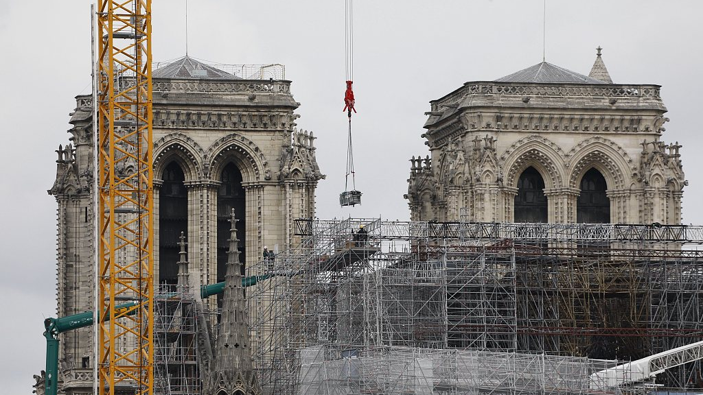 Notre Dame Paris Christmas Mass 2021 Notre Dame Reconstruction To Begin Early 2021 Archbishop Cgtn