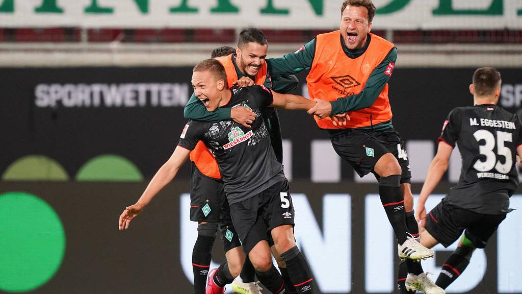Werder Bremen Avoid Bundesliga Relegation By Narrowest Margin Cgtn