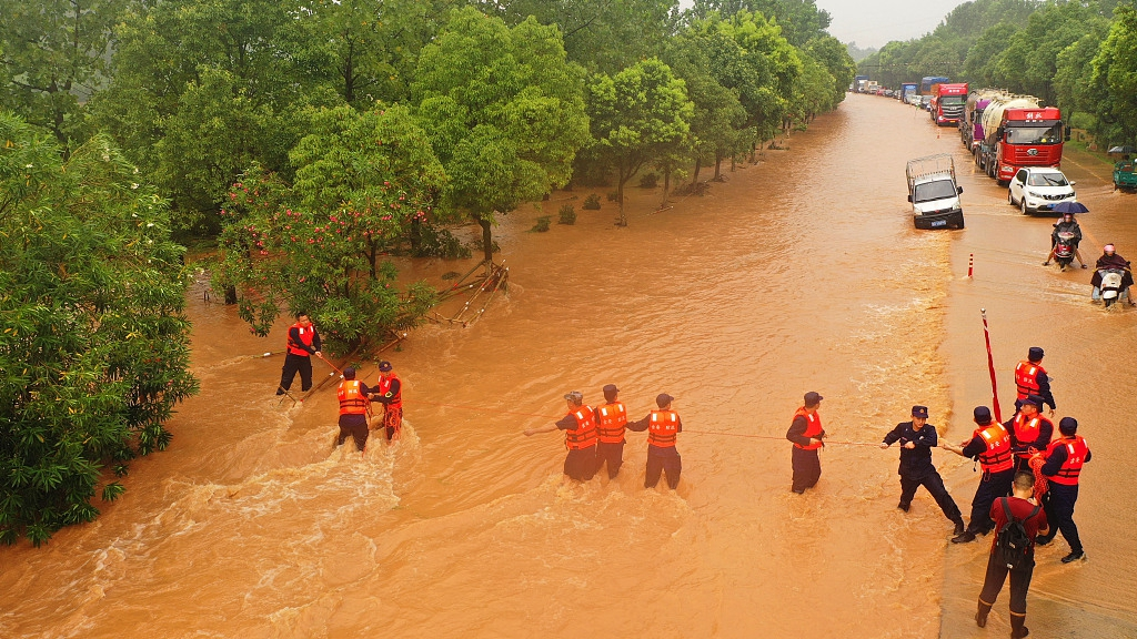 Live updates: China renews blue alert for rainstorms