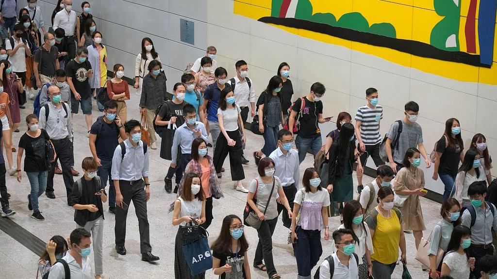 Hong Kong makes mask wearing mandatory in public places - CGTN