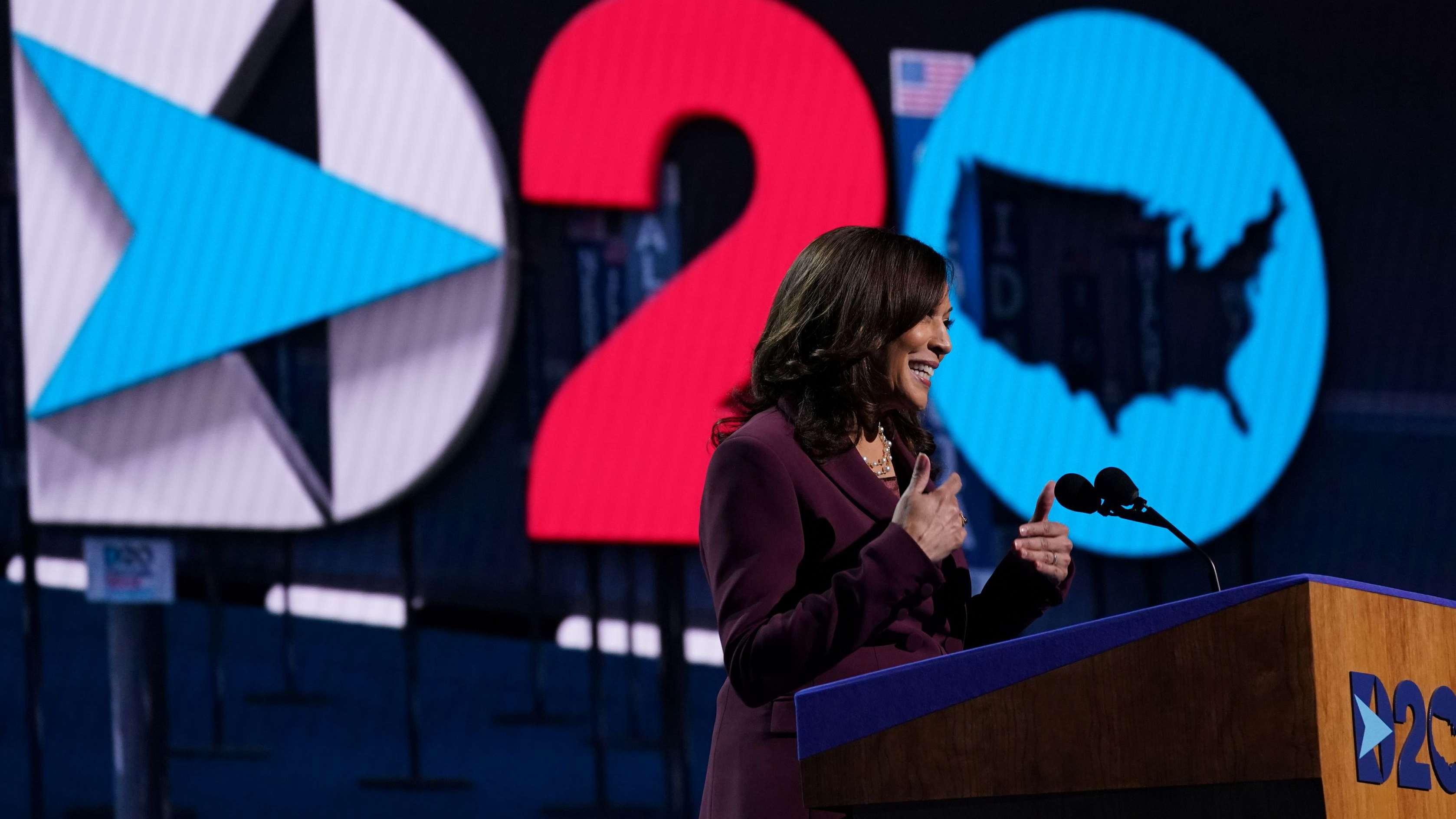 Kamala Harris Accepts U S Democratic Vice Presidential Nomination Cgtn