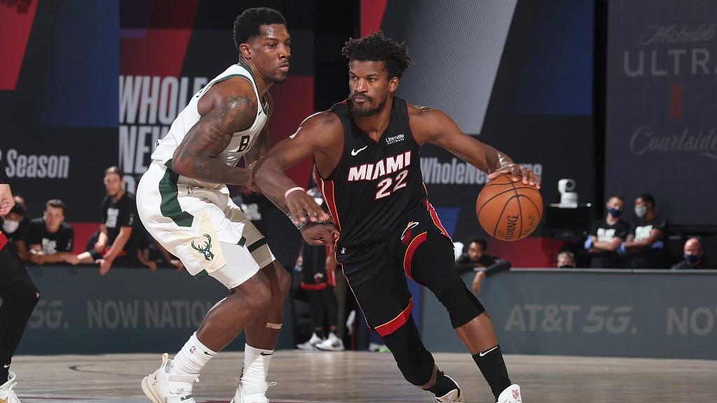 Nba Highlights On Sep 8 Heat Eliminate Bucks For East Finals Cgtn