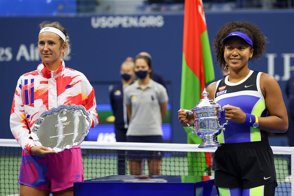 Osaka beats Azarenka to win second U.S. Open title, third Grand Slam - CGTN