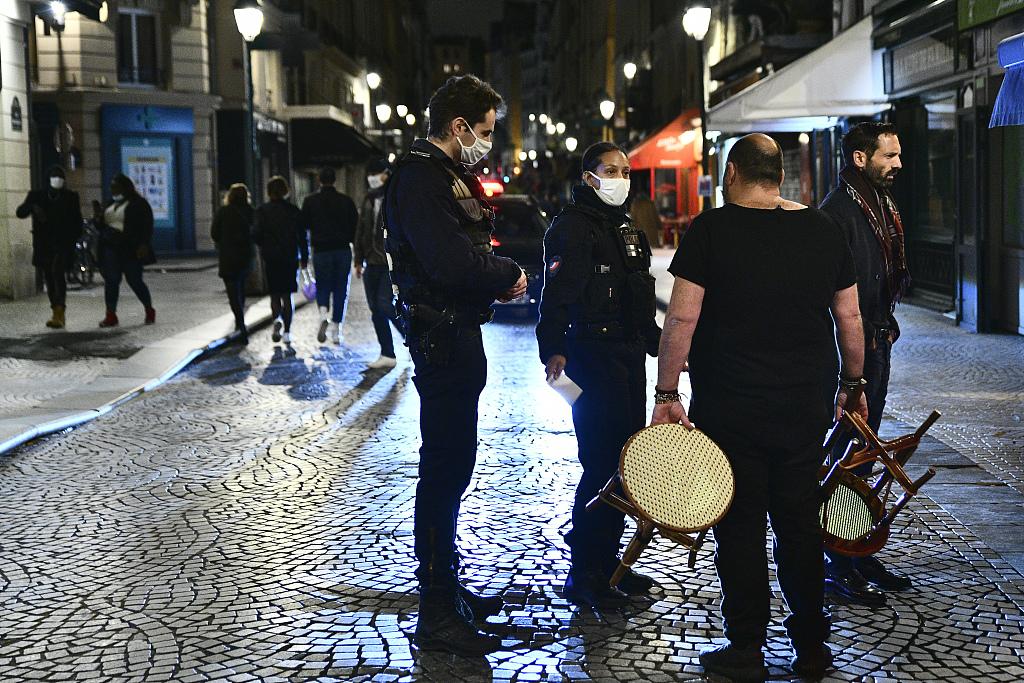 Europe Hit By Covid 19 Resurgence Month Long Curfew Begins In Paris Cgtn