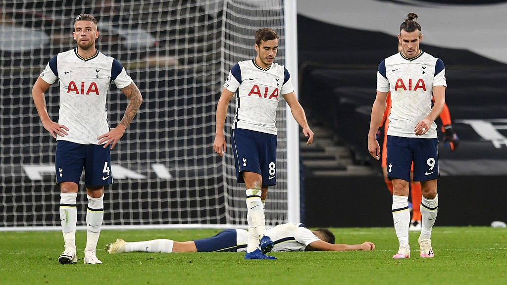 European roundup: Tottenham wastes three-goal lead, Sociedad go top - CGTN