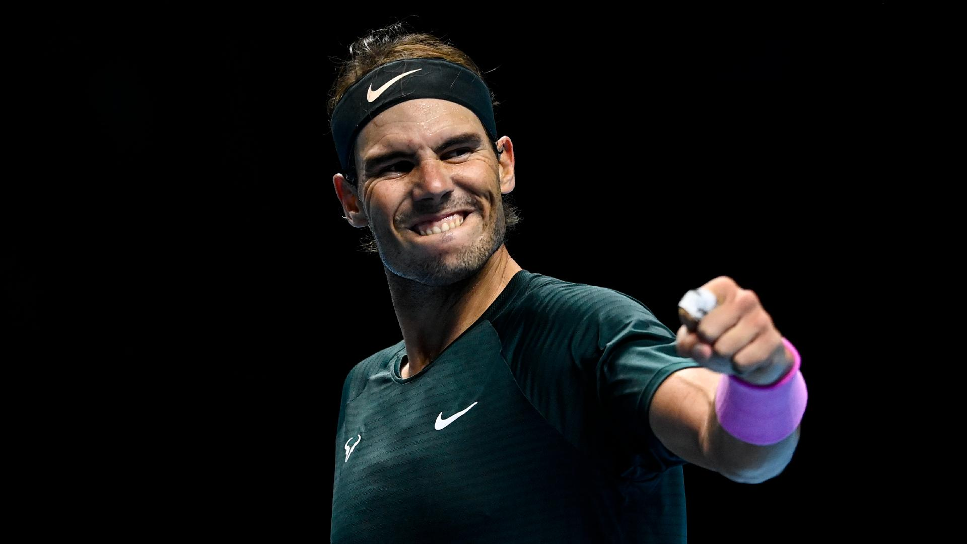 Grand Slam Champion Rafael Nadal Of Spain L And Stefanos ...   Nadal Tsitsipas