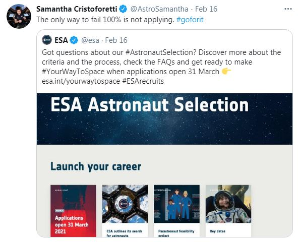 - 471847d51af34f42be5f5aaaef995398 - ESA seeks more women, people with disabilities for space missions