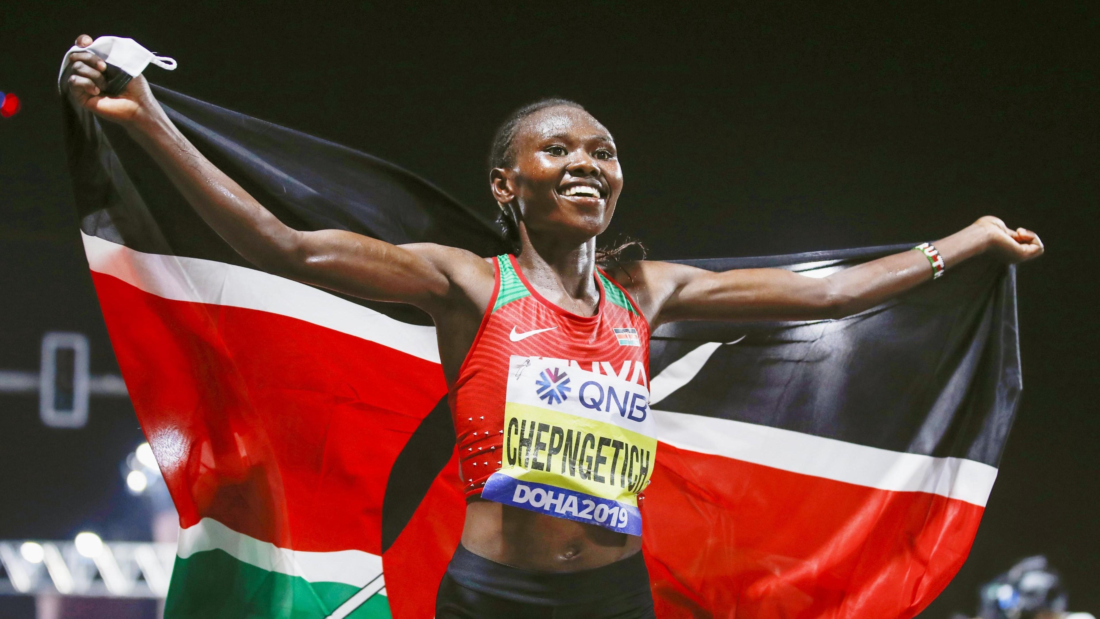 Peres Jepchirchir won gold in women's marathon at Tokyo Olympics