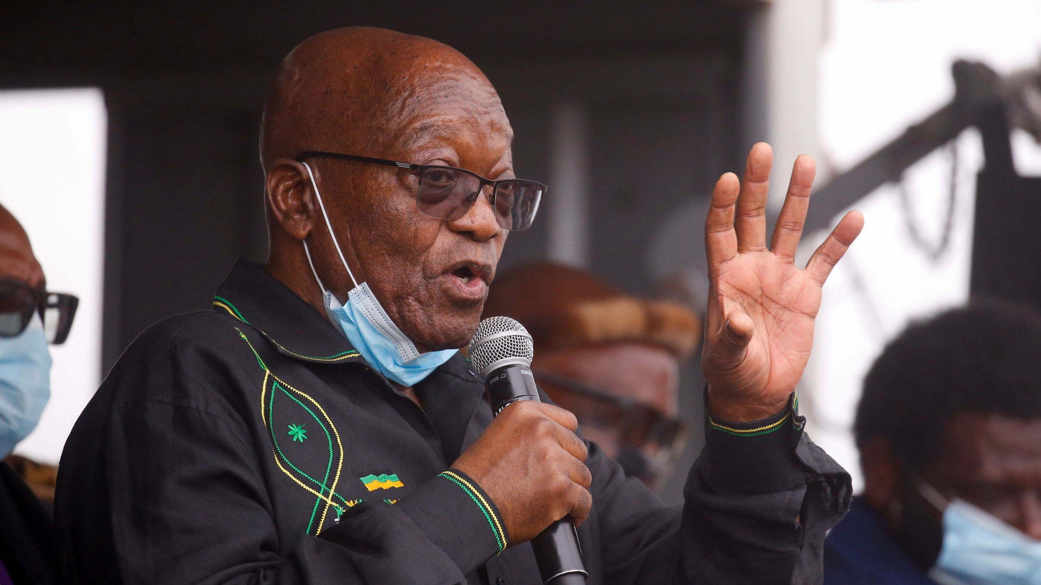South Africa's Former President Zuma Tries to Block Arrest as Police Hold Back