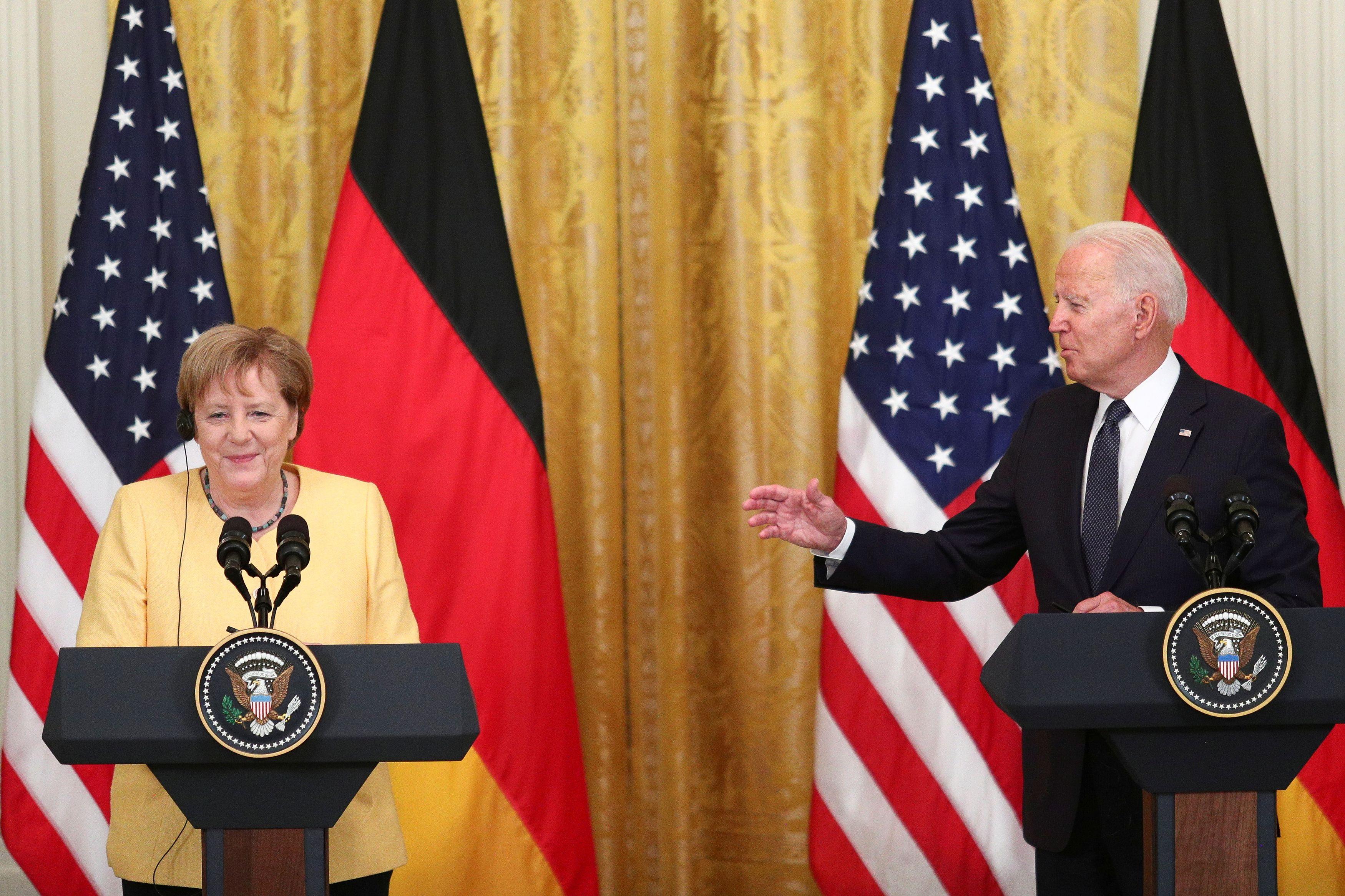 Biden raises concerns about Nord Stream-2 to Merkel - CGTN