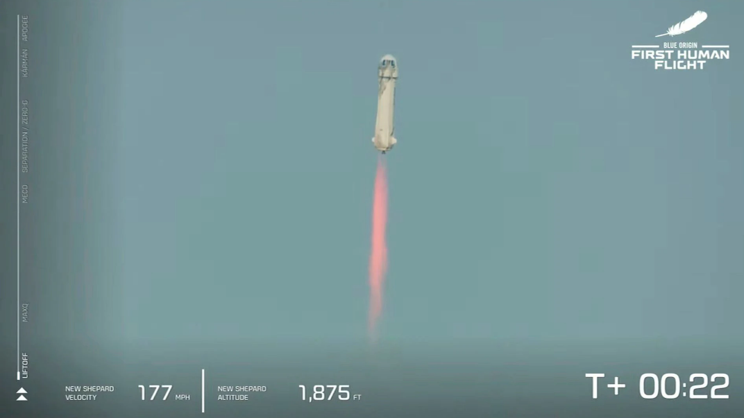 blue origin s jeff bezos carries out inaugural space