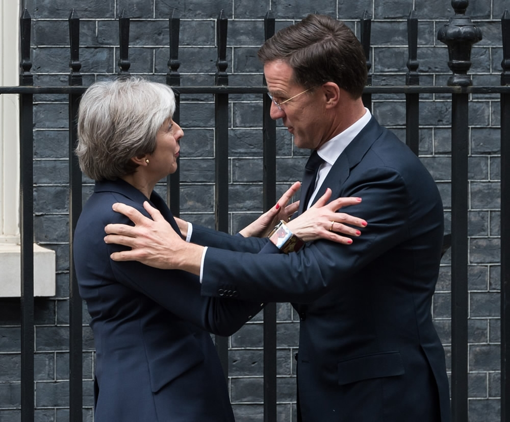 Maurits Hendriks Netherlands Prime Minister Mark Rutte L: EU's Tusk: UK Position On Brexit 'pure Illusion