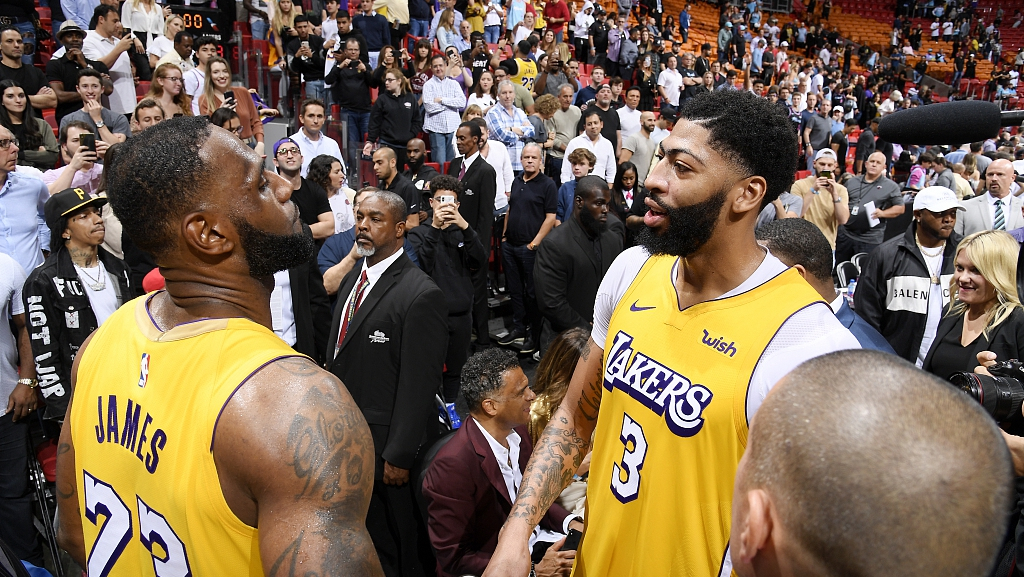 Lakers Highlights >> Nba Highlights On Dec 13 Lakers Top Miami 113 110 Cgtn