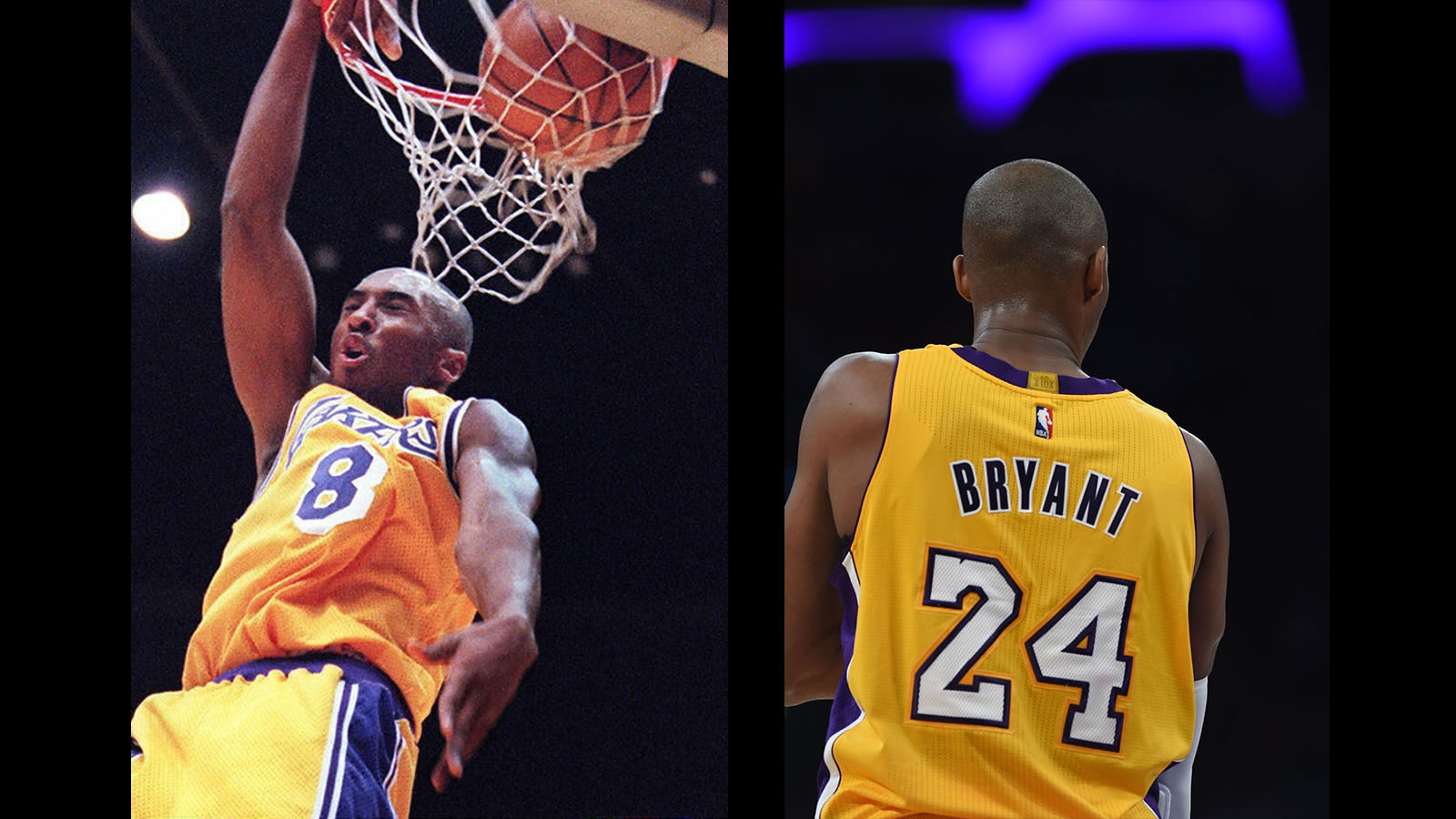 8ede458c654b NBA History  Kobe Bryant retires two numbers with Los Angeles Lakers ...
