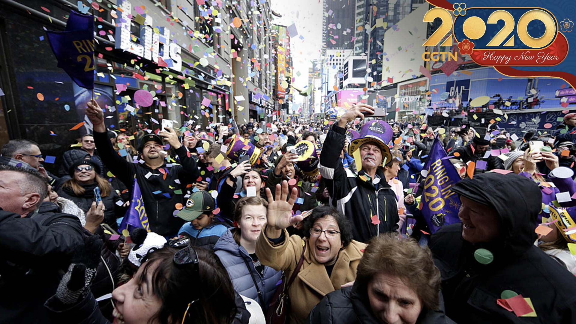 Live: New York City rings in 2020 with ball drop in Times ...