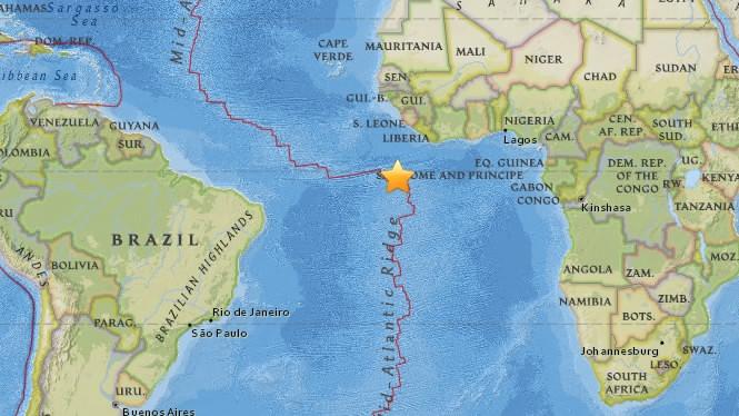 M68 earthquake shakes South Atlantic Ocean CGTN