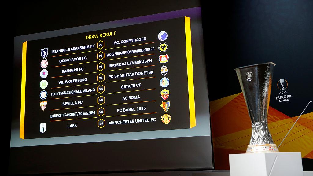 europa league last 16 draw man utd face lask as roma tackle sevilla cgtn europa league last 16 draw man utd