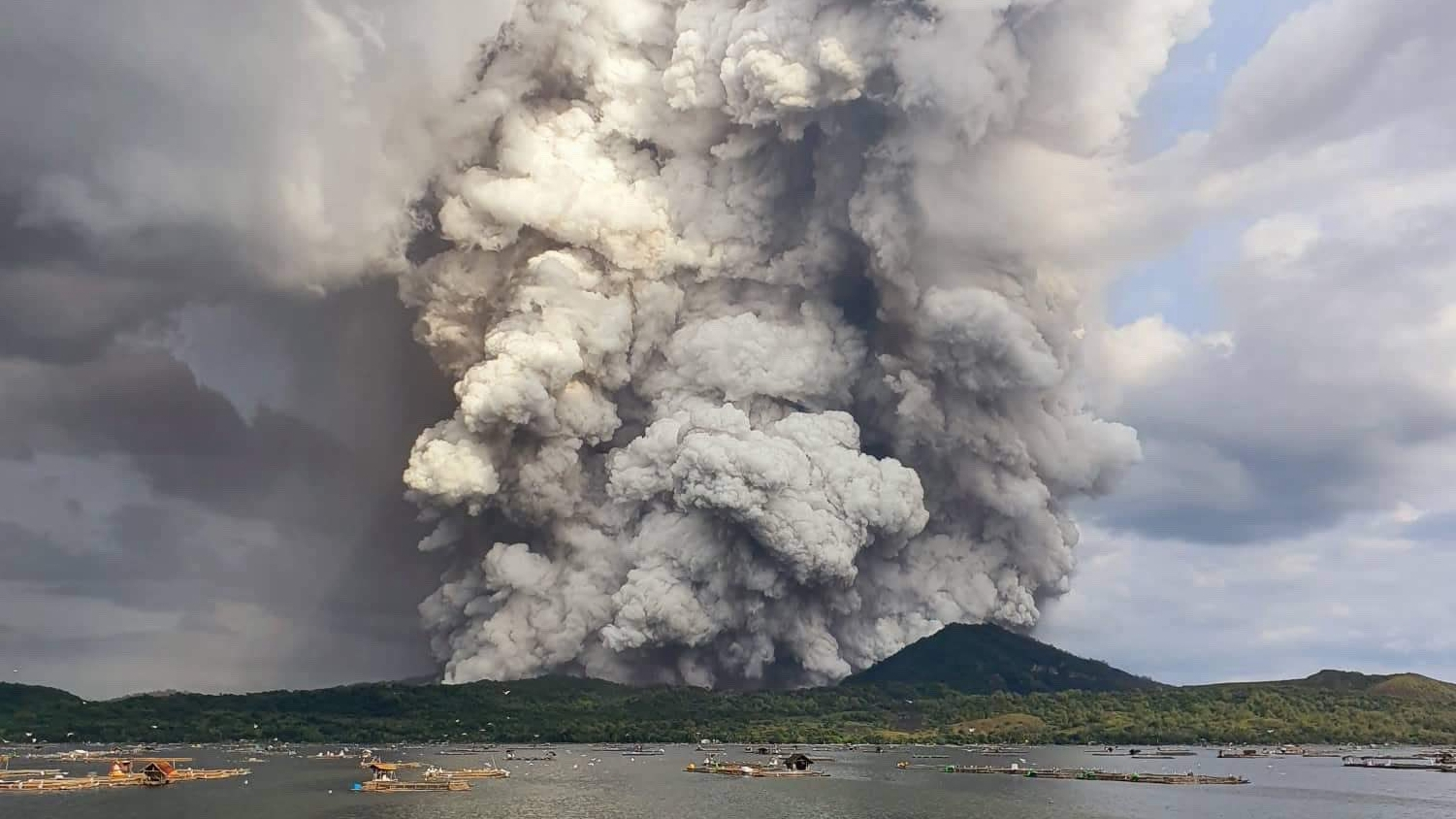 Live: Taal Volcano near Manila erupts, spewing ash and steam - CGTN