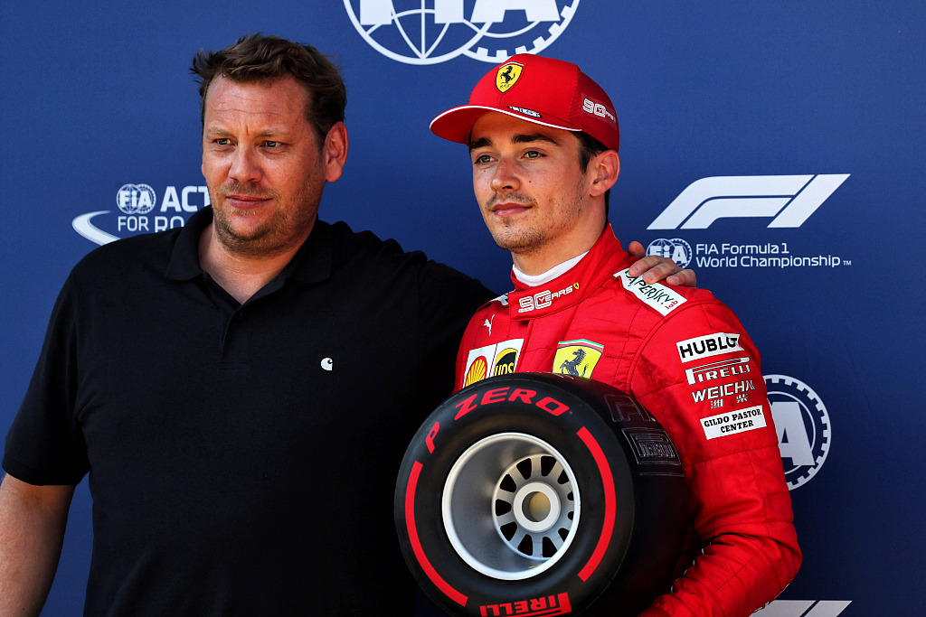 F1 Ferrari S Leclerc Powers To Austria Pole After Hamilton Penalized Cgtn