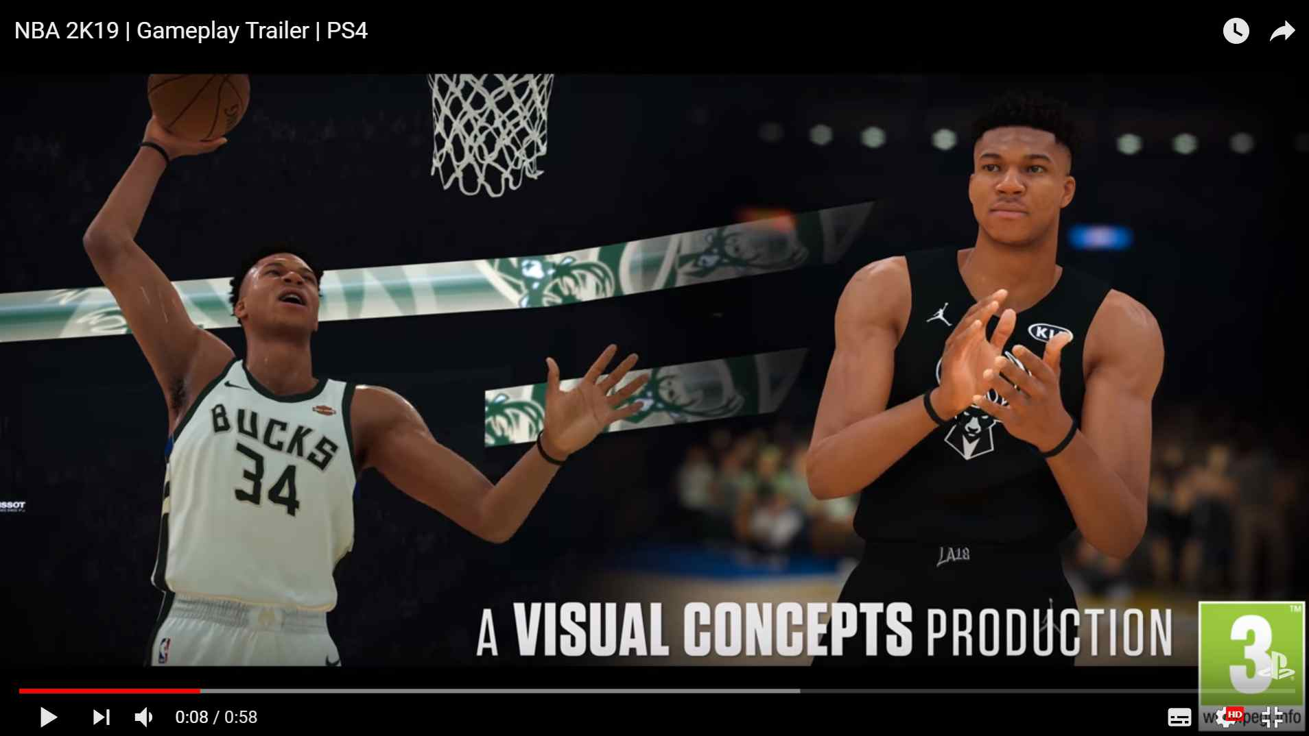 b54a976ce5d Giannis Antetokounmpo from the Milwaukee Bucks will be the cover player of  the standard edition of NBA 2K19.  Screenshot of YouTube video