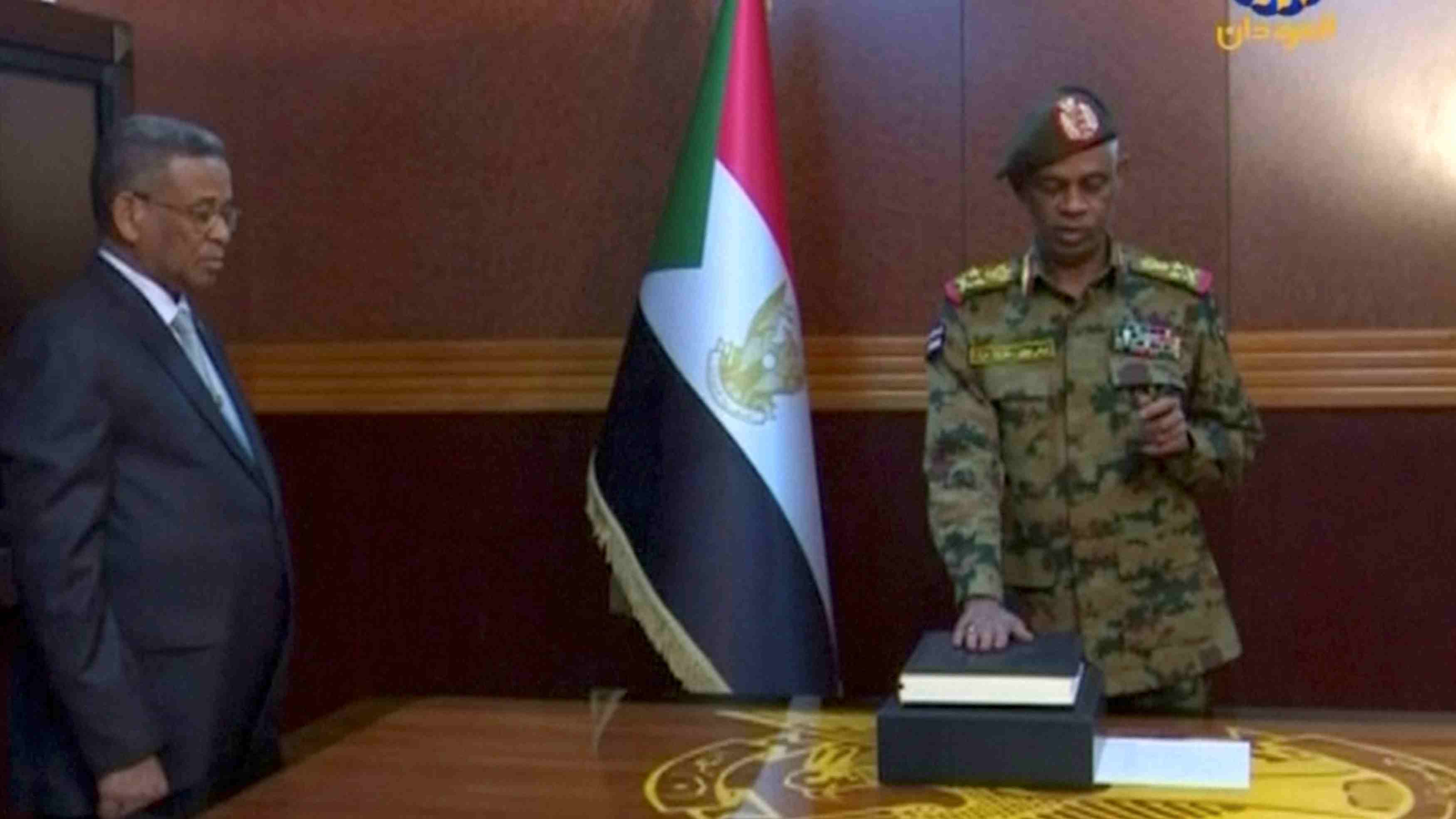 Image result for Sudan Defence minister sworn in as head of transitional Council