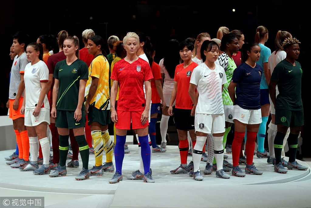 wholesale dealer 1c4eb 85ad7 China reveals new jersey for Women's World Cup - CGTN