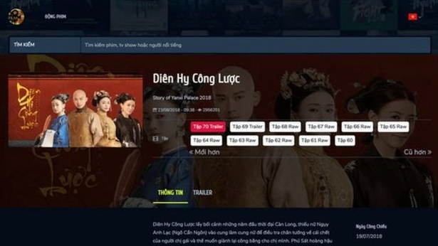 Vietnamese video website: Wanna watch Chinese drama? Answer