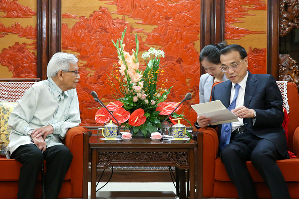 Image result for Daim Delivers A Letter From Mahathir To Chinese Premier Li Keqiang