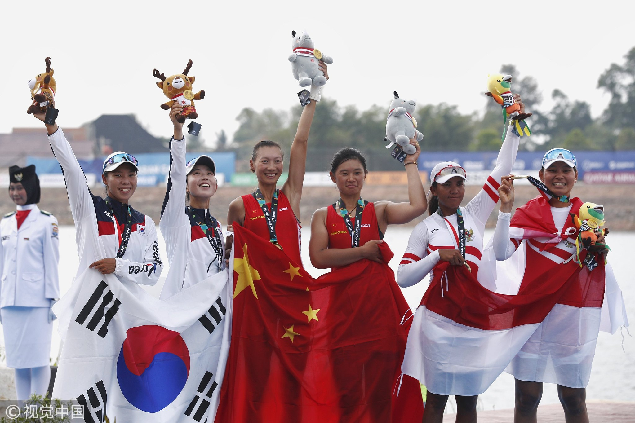 China wins five gold medals in rowing at Asian Games - CGTN