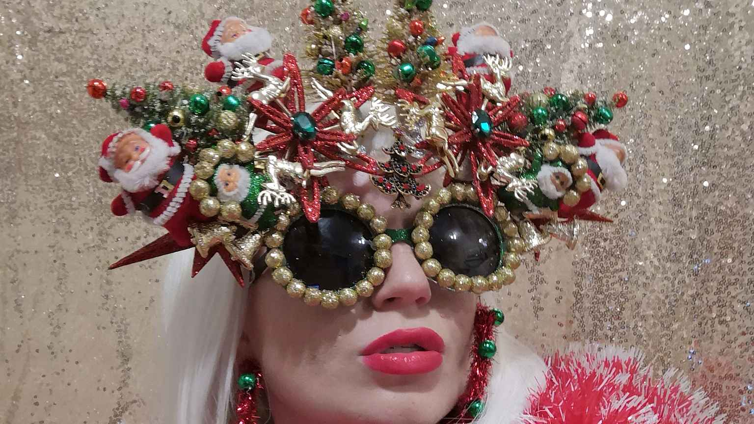 1 4 how many christmas decorations can you fit onto a pair of glasses well the possibility is endless as shown by jenny wilson a dublin based