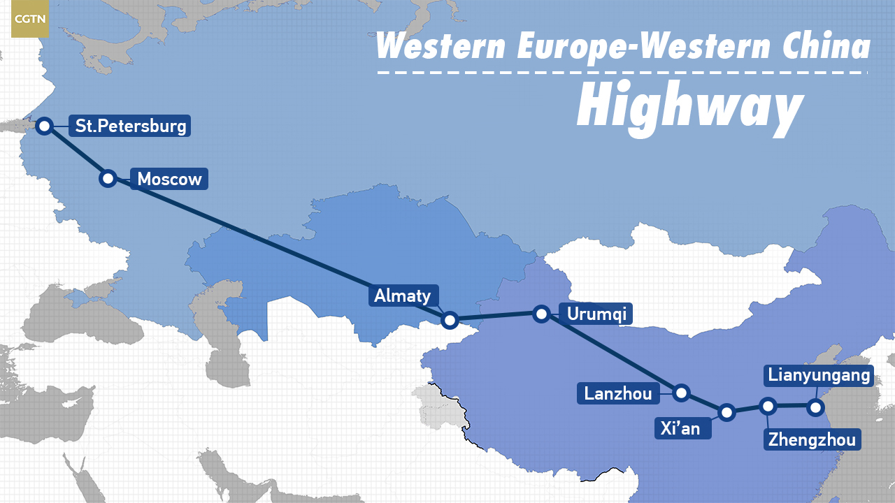 Riding The Western Europe Western China Highway Connecting Europe