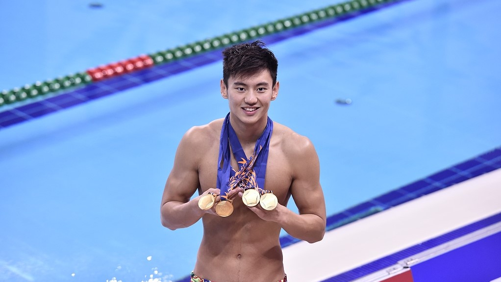 Internet goes wild for handsome Chinese Olympic swimmer