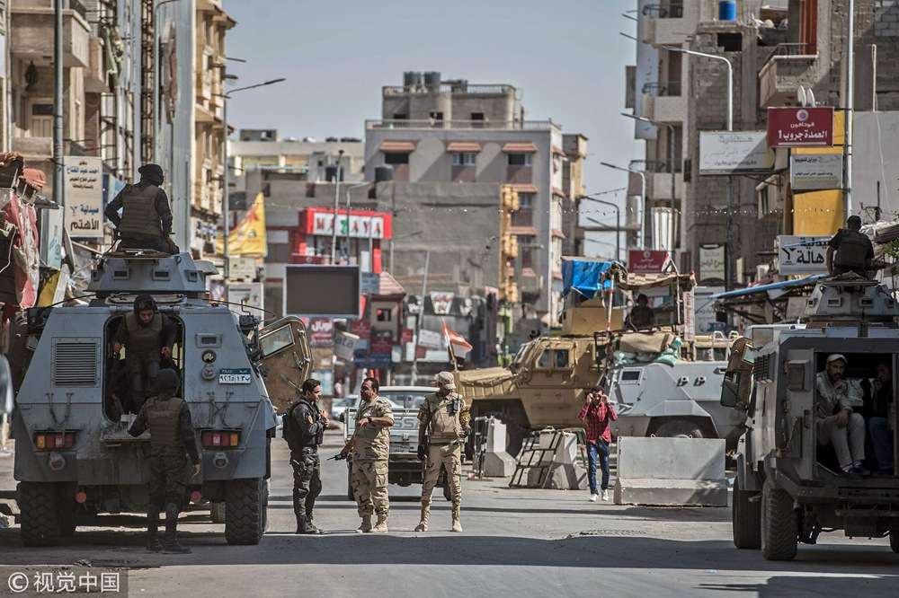 Egyptian police kill 14 terrorists in Sinai - CGTN