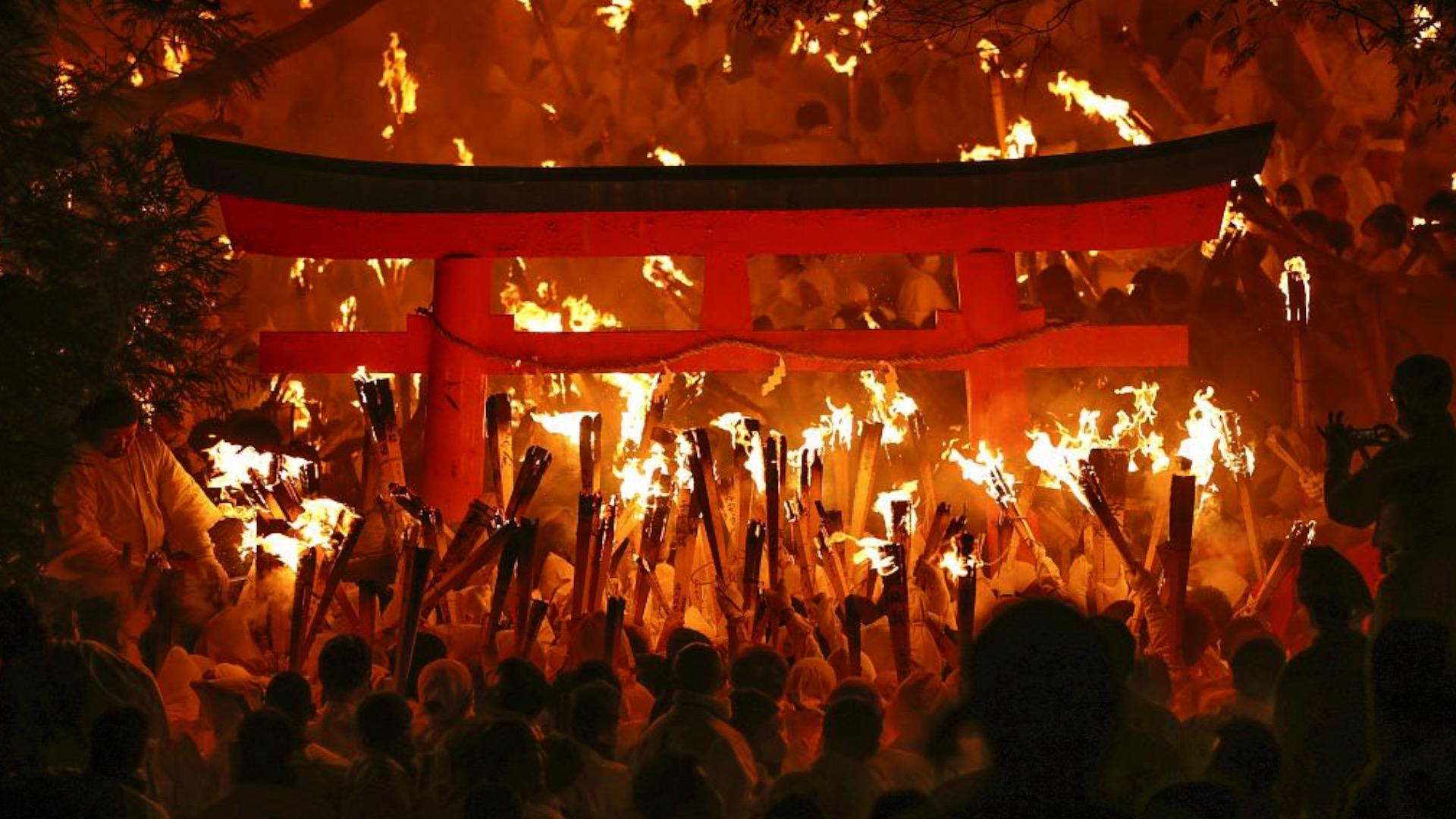Fire dragon' lights up the night during Oto Matsuri festival