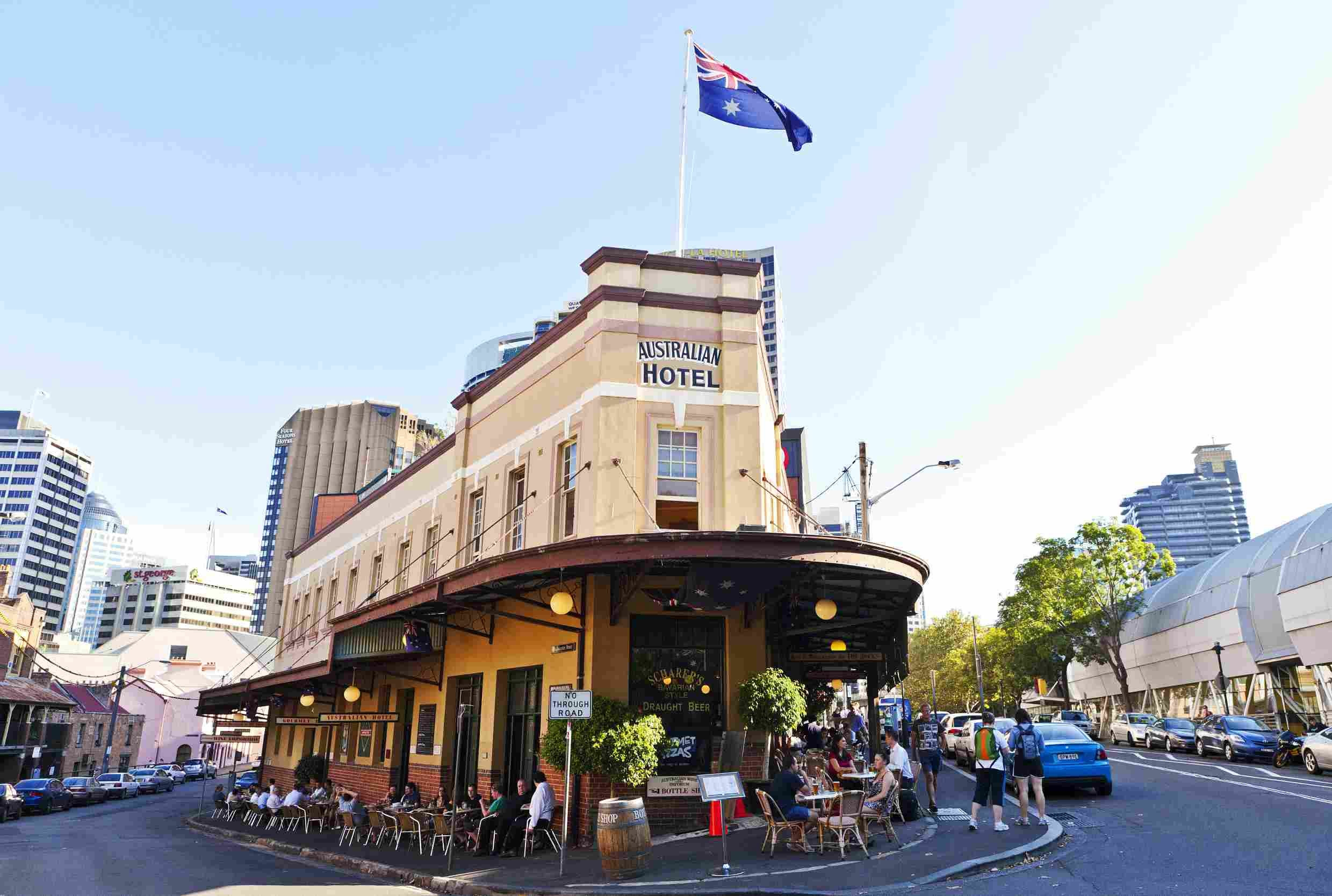 A View Of Traditional Australian Hotel Pub And Bar VCG Photo