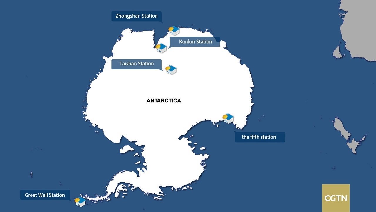 Unveiling Chinas Fifth Research Station In Antarctica CGTN - Antarctic research stations map
