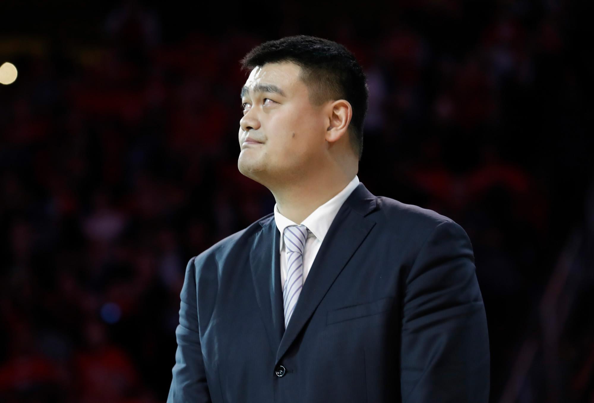 Houston Rockets retires Yao Ming s No 11 jersey CGTN