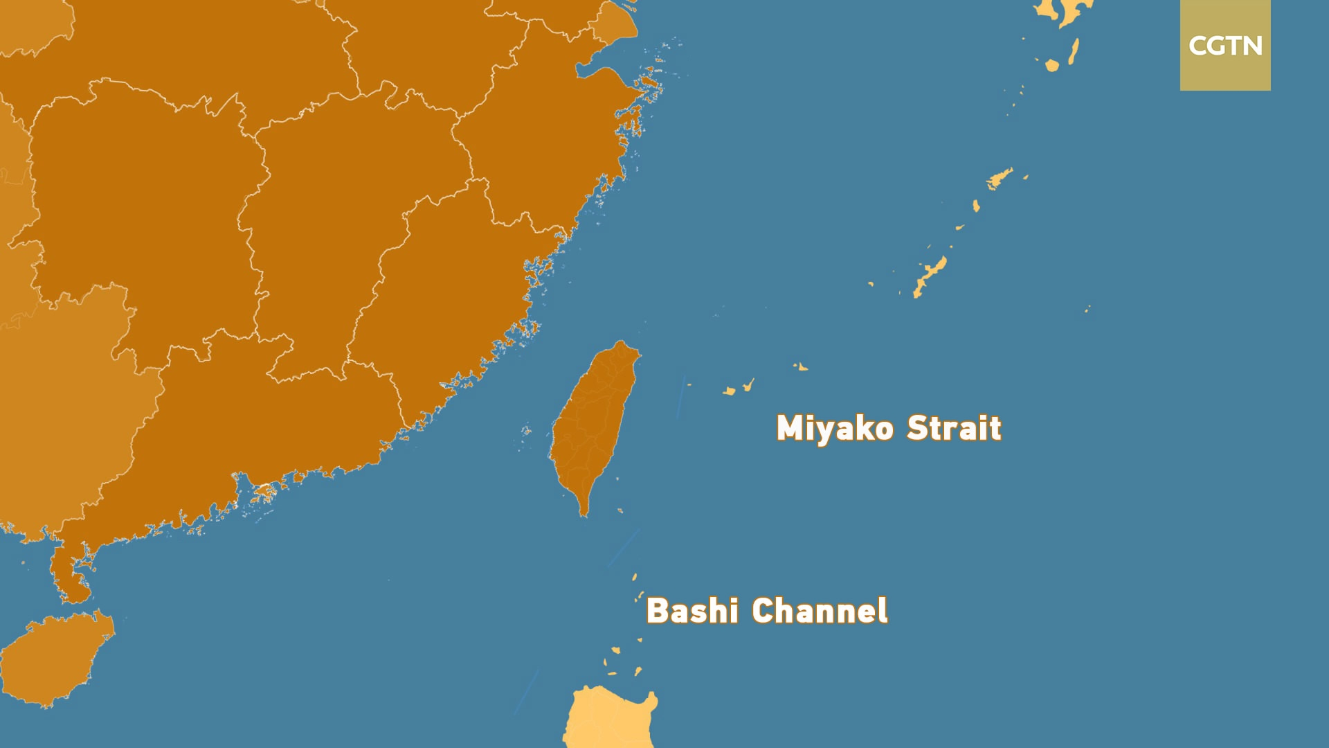 Image result for Miyako Strait and Bashi Channel, map