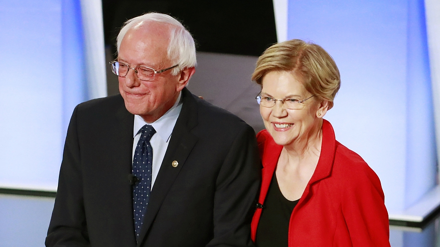 Democrats Are Spotlighting Big >> Moderates Target Sanders And Warren In Democratic Debate Cgtn