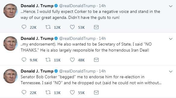 טוויטס: טראמפ פירט טוויטער-קריג מיט באב קארקער