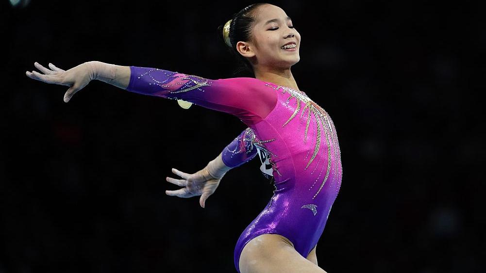 China's Tang Xijing claims silver, Simone Biles crushes 2 more records -  CGTN