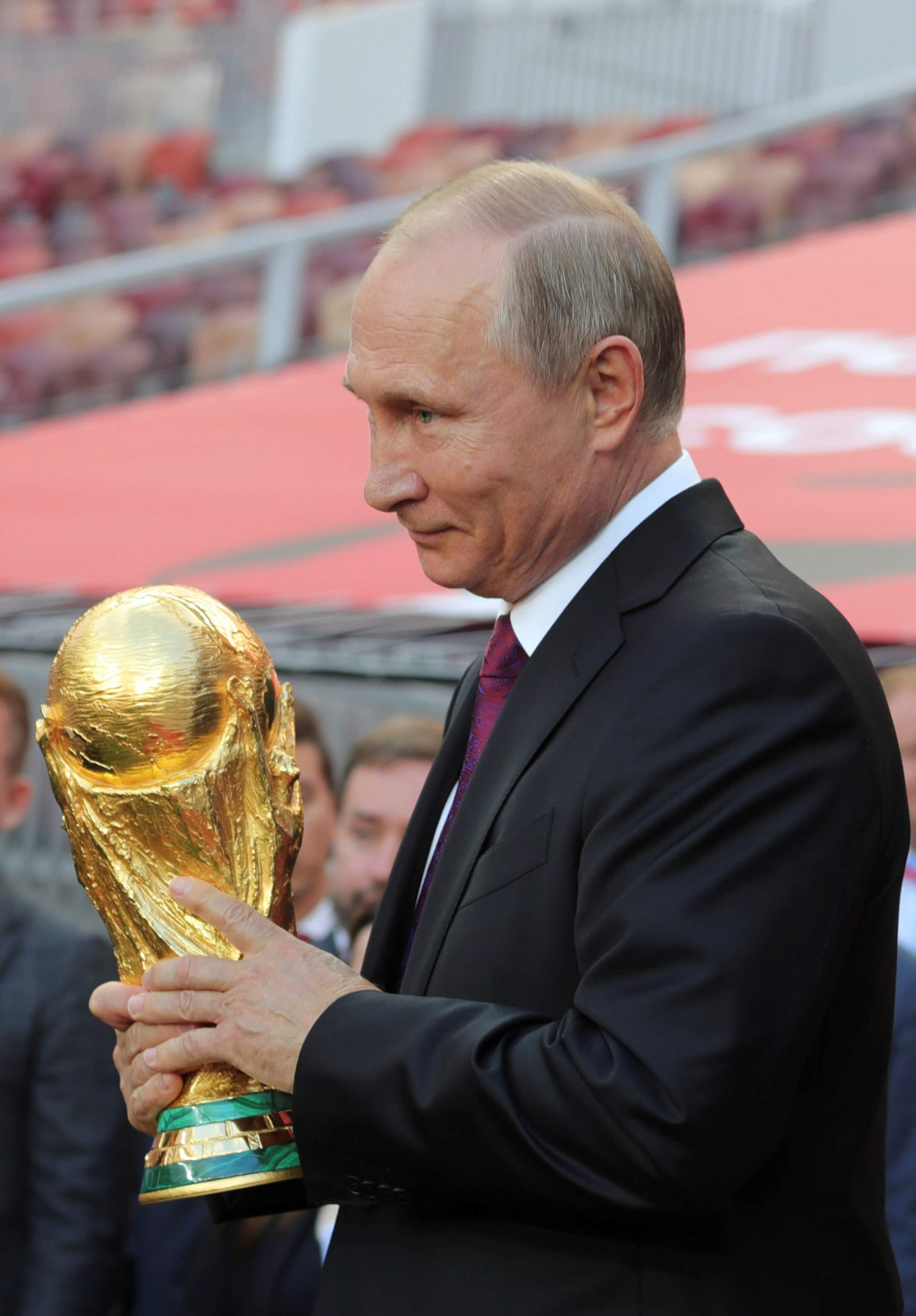 Putin Fifa Head Send World Cup Trophy On Russian Tour Cgtn