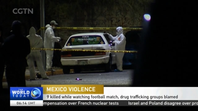 Mexico Violence: 9 Killed While Watching Football Match, Drug Trafficking  Groups Blamed   CGTN