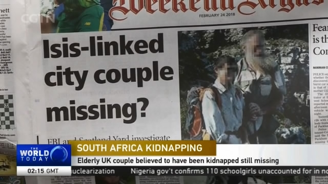 South Africa Kidnapping: Elderly UK couple believed to have